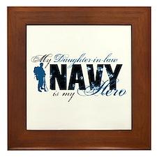 Daughter Law Hero3 - Navy Framed Tile