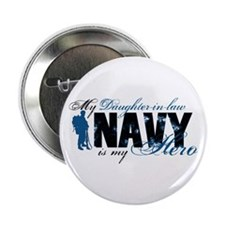 """Daughter Law Hero3 - Navy 2.25"""" Button"""