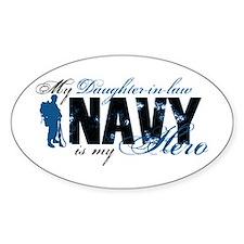 Daughter Law Hero3 - Navy Decal