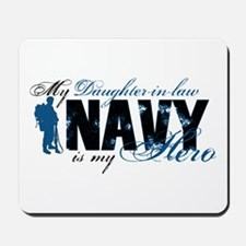 Daughter Law Hero3 - Navy Mousepad