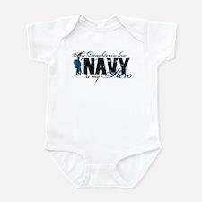 Daughter Law Hero3 - Navy Infant Bodysuit