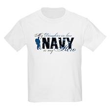 Daughter Law Hero3 - Navy T-Shirt