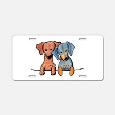 Pocket Doxie Duo Aluminum License Plate