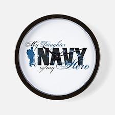 Daughter Hero3 - Navy Wall Clock