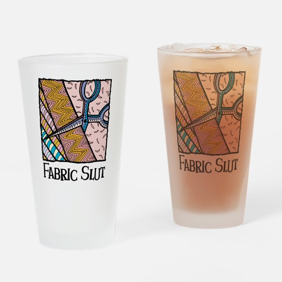 Fabric Slut Drinking Glass