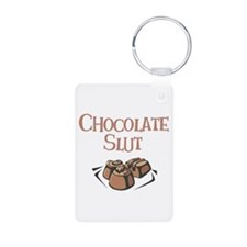 Chocolate Slut Aluminum Photo Keychain