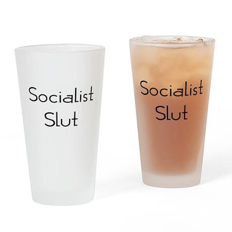 Socialist Slut Drinking Glass