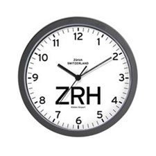 Zurich ZRH Airport Newsroom Wall Clock
