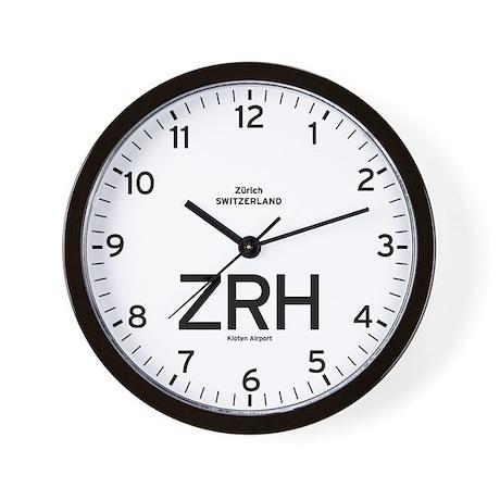 Zurich ZRH Airport Newsroom Wall Clock