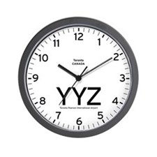 Toronto YYZ Airport Newsroom Wall Clock