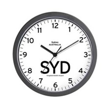 Sydney SYD Airport Newsroom Wall Clock