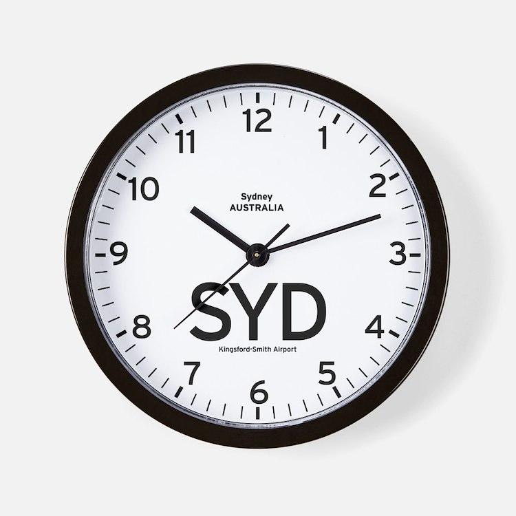 Sydney SYD Airport Newsroom Wall Clock