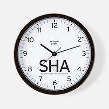 Shanghai SHA Airport Newsroom Wall Clock