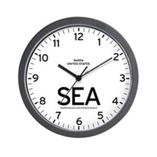 Seattle SEA Airport Newsroom Wall Clock