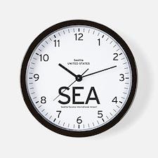 Seattle SEA Airport Newsroom Wall Clock