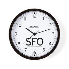 San Francisco SFO Airport Newsroom Wall Clock