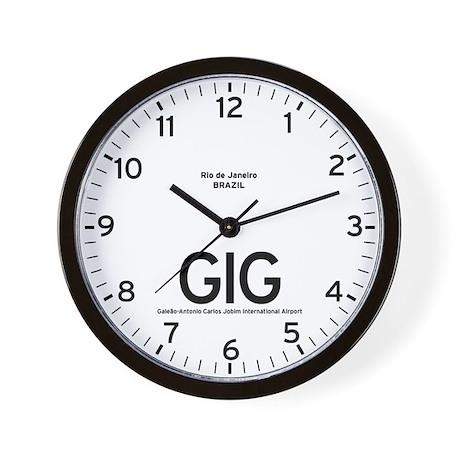 Rio de Janeiro GIG Airport Newsroom Wall Clock