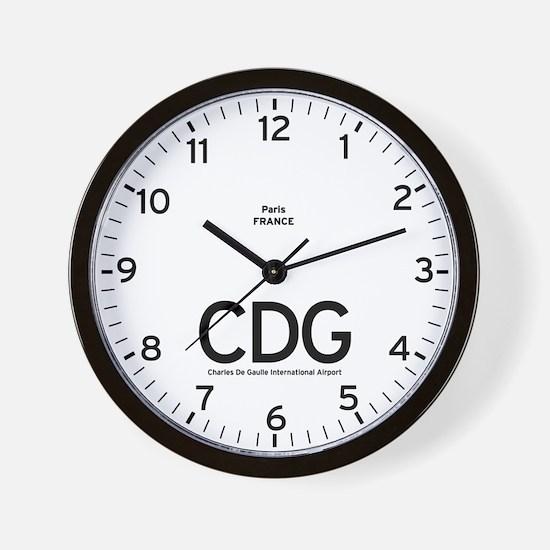 Paris CDG Airport Newsroom Wall Clock