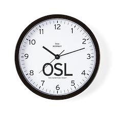 Oslo OSL Airport Newsroom Wall Clock