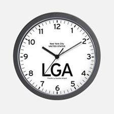 New York LGA Airport Newsroom Wall Clock