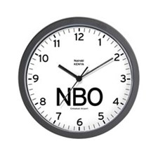 Nairobi NBO Airport Newsroom Wall Clock