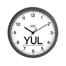Montreal YUL Airport Newsroom Wall Clock