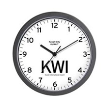 Kuwait KWI Airport Newsroom Wall Clock