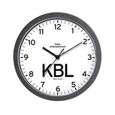 Kabul KBL Airport Newsroom Wall Clock