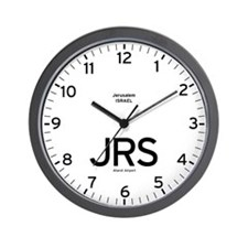 Jerusalem JRS Airport Newsroom Wall Clock