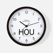 Houston HOU Airport Newsroom Wall Clock