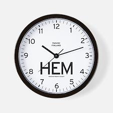 Helsinki HEM Airport Newsroom Wall Clock