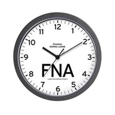 Freetown FNA Airport Newsroom Wall Clock