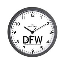 Dallas DFW Airport Newsroom Wall Clock