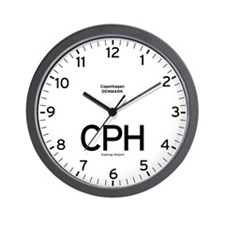 Copenhagan CPH Airport Newsroom Wall Clock