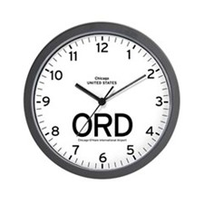 Chicago ORD Airport Newsroom Wall Clock