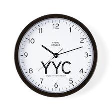 Calgary YYC Airport Newsroom Wall Clock
