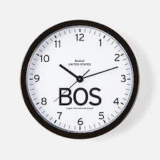 Boston BOS Airport Newsroom Wall Clock