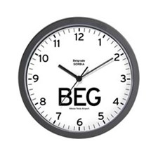 Belgrade BEG Airport Newsroom Wall Clock