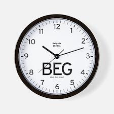 Belgrade BEG Airport Newsroom Wall Clock