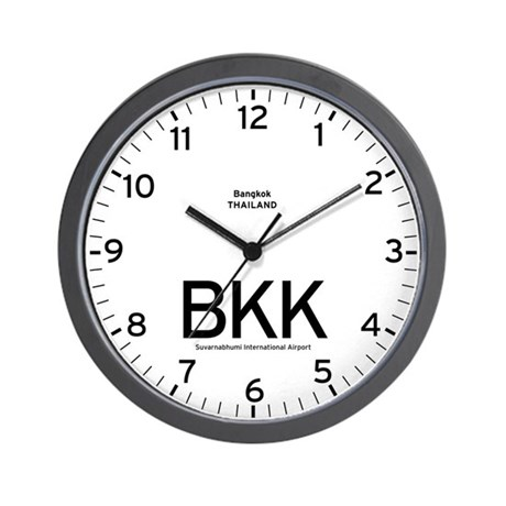 Bangkok BKK Airport Newsroom Wall Clock