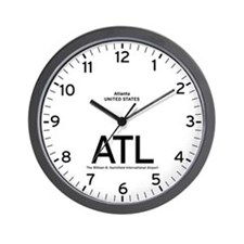 Atlanta ATL Airport Newsroom Wall Clock
