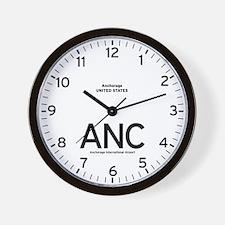 Anchorage ANC Airport Newsroom Wall Clock