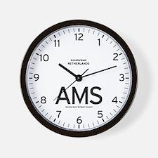 Amsterdam AMS Airport Newsroom Wall Clock
