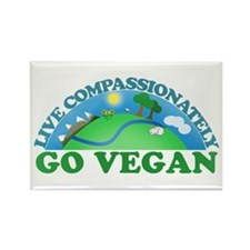 Live Compassionately Rectangle Magnet