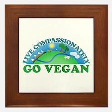 Live Compassionately Framed Tile