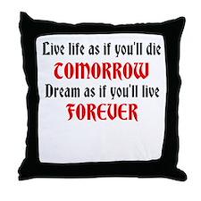 Cute Tomorrow beliefs Throw Pillow