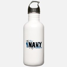 Dad Hero3 - Navy Water Bottle