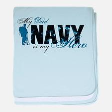 Dad Hero3 - Navy baby blanket