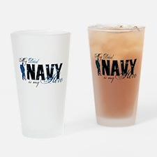 Dad Hero3 - Navy Drinking Glass