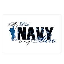 Dad Hero3 - Navy Postcards (Package of 8)